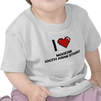I Love Modern South Asian Studies Digital Design Tshirts