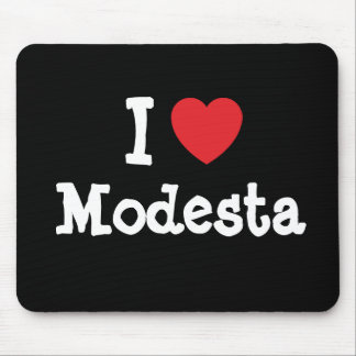 I love Modesta heart T-Shirt Mouse Pad