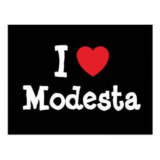I love Modesta heart T-Shirt Postcard