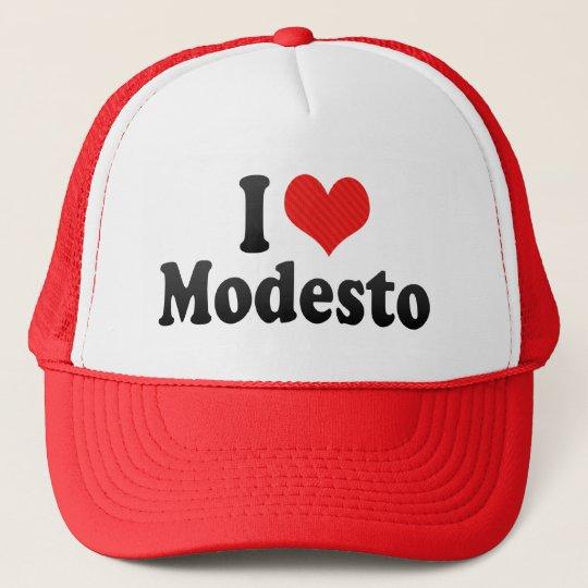 I Love Modesto Trucker Hat
