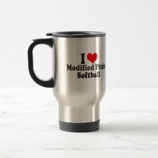 I love Modified Pitch Softball 15 Oz Stainless Steel Travel Mug