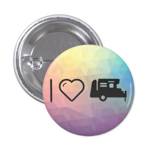 I Love Modified Vehicles 1 Inch Round Button