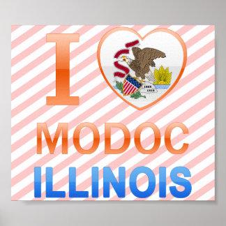 I Love Modoc, IL Print