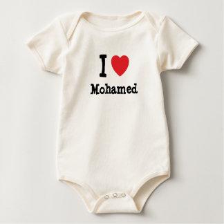 I love Mohamed heart custom personalized Bodysuit