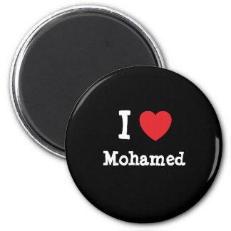 I love Mohamed heart custom personalized Refrigerator Magnet