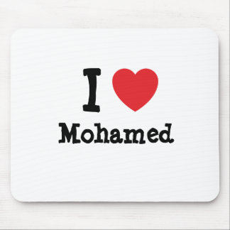 I love Mohamed heart custom personalized Mouse Pads