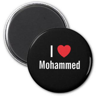 I love Mohammed 2 Inch Round Magnet