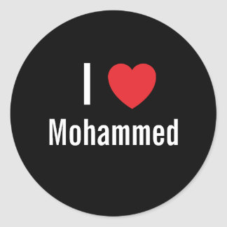 I love Mohammed Classic Round Sticker