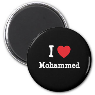 I love Mohammed heart custom personalized 2 Inch Round Magnet