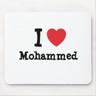 I love Mohammed heart custom personalized Mouse Mat