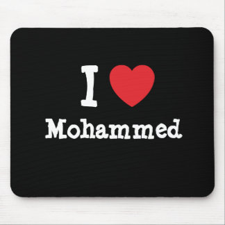 I love Mohammed heart custom personalized Mouse Pads