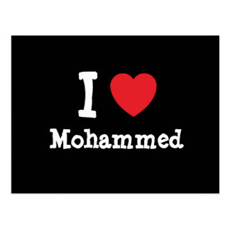 I love Mohammed heart custom personalized Post Cards