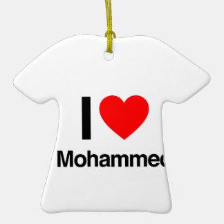 i love mohammed christmas ornaments
