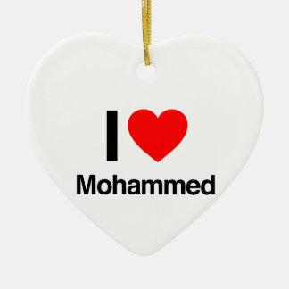 i love mohammed christmas tree ornaments