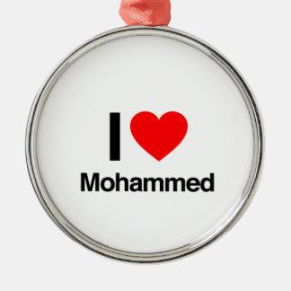 i love mohammed christmas tree ornament