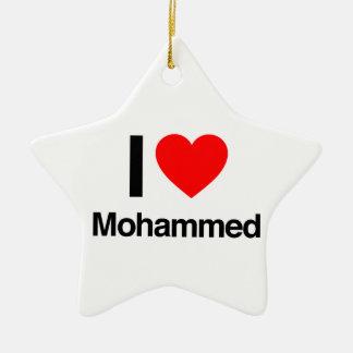 i love mohammed christmas ornament