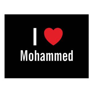 I love Mohammed Post Card