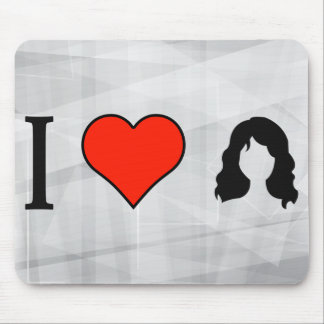 I Love Mohawk Hairstyle Mouse Pad