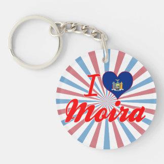I Love Moira, New York Keychains