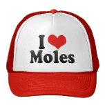 I Love Moles Hat