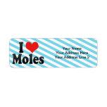 I Love Moles Return Address Label