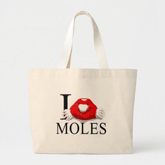I Love Moles Tote Bags