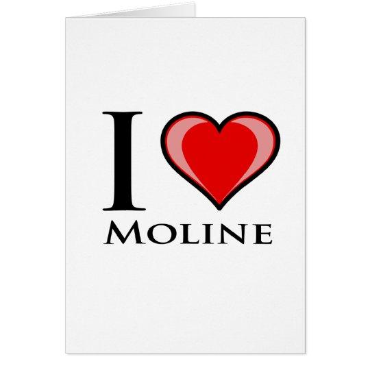 I Love Moline Card
