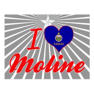 I Love Moline, Kansas Postcard