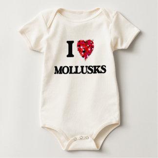 I love Mollusks Baby Bodysuits
