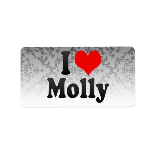 I love Molly Address Label