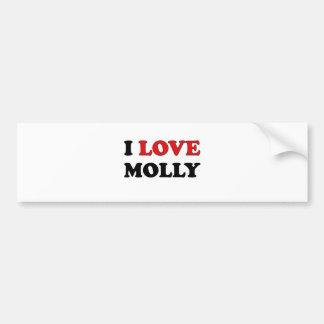 I Love Molly Car Bumper Sticker