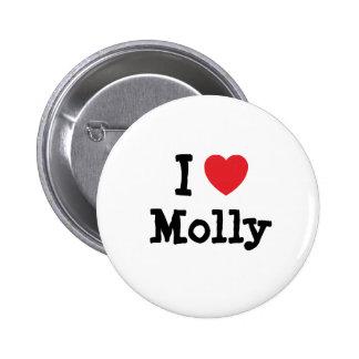 I love Molly heart T-Shirt Pinback Button