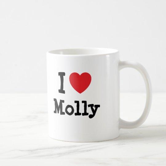 I love Molly heart T-Shirt Coffee Mug
