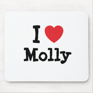 I love Molly heart T-Shirt Mouse Pads