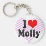 I love Molly Key Chains