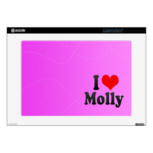 I love Molly Laptop Decals