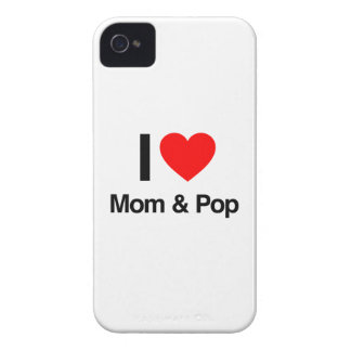 i love mom and pop iPhone 4 cover
