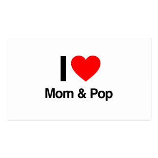 i love mom and pop Double-Sided standard business cards (Pack of 100)