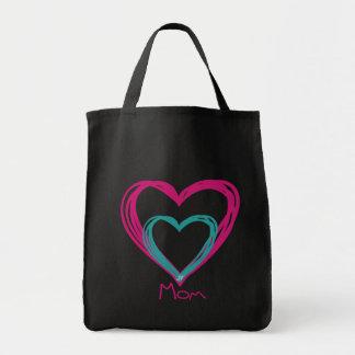 """I love mom"" Grocery Tote Bag"