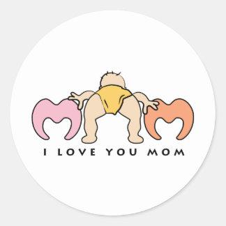 I love Mom Classic Round Sticker