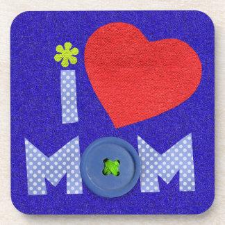 i love mom coaster