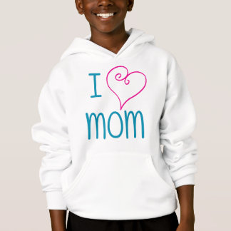 I love mom- fancy heart kids t-shirt