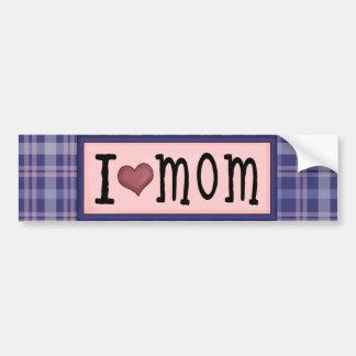 I Love MOM Heart Bumper Sticker