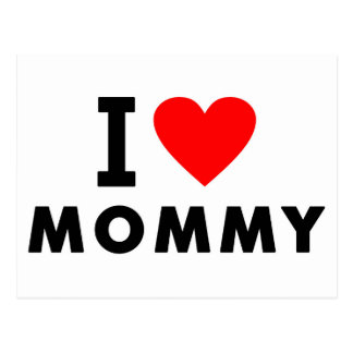 i love mom heart mommy text message mother symbol postcard