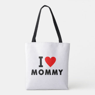 i love mom heart mommy text message mother symbol tote bag