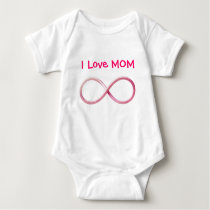I Love Mom Infinity | Funny Gifts Baby Bodysuit