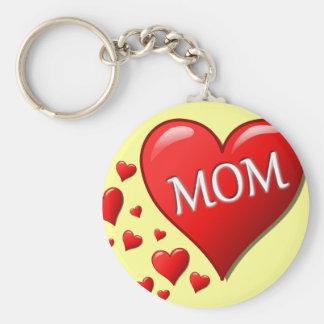 I Love Mom Key Chains
