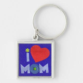 i love mom keychain
