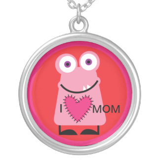 I Love Mom Monster One Necklace