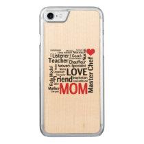 I Love Mom - Multitasking Master Chef Mother Carved iPhone 7 Case